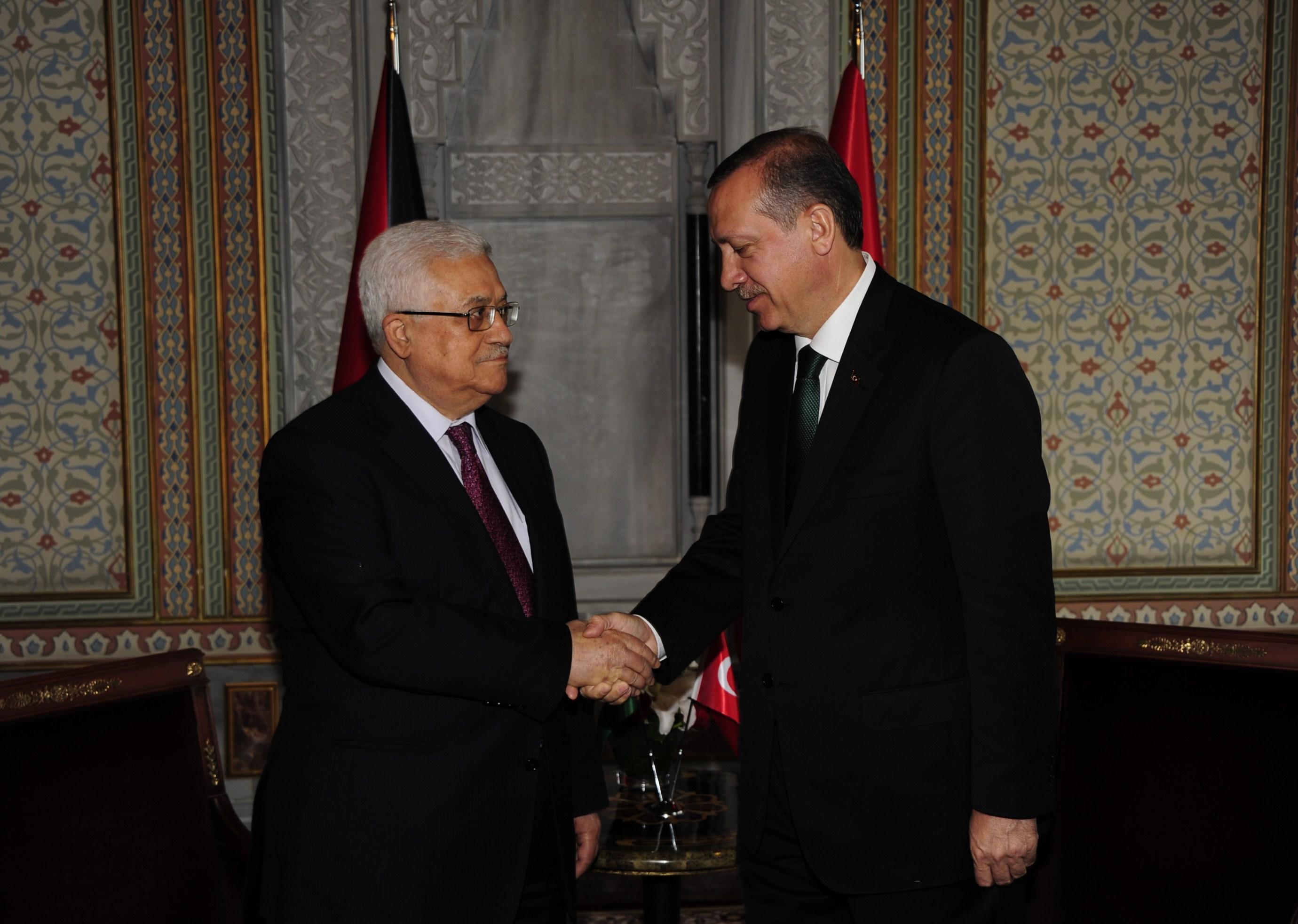 الرئيس أبو مازن ورجب طيب أردوغان