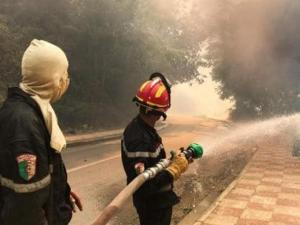 ارتفاع عدد ضحايا الحرائق في الجزائر إلى 69